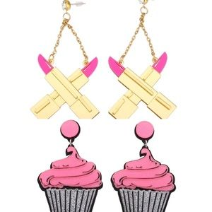 Jewelry - Night Club Party Jewelry Acrylic Cup Cake Earrings
